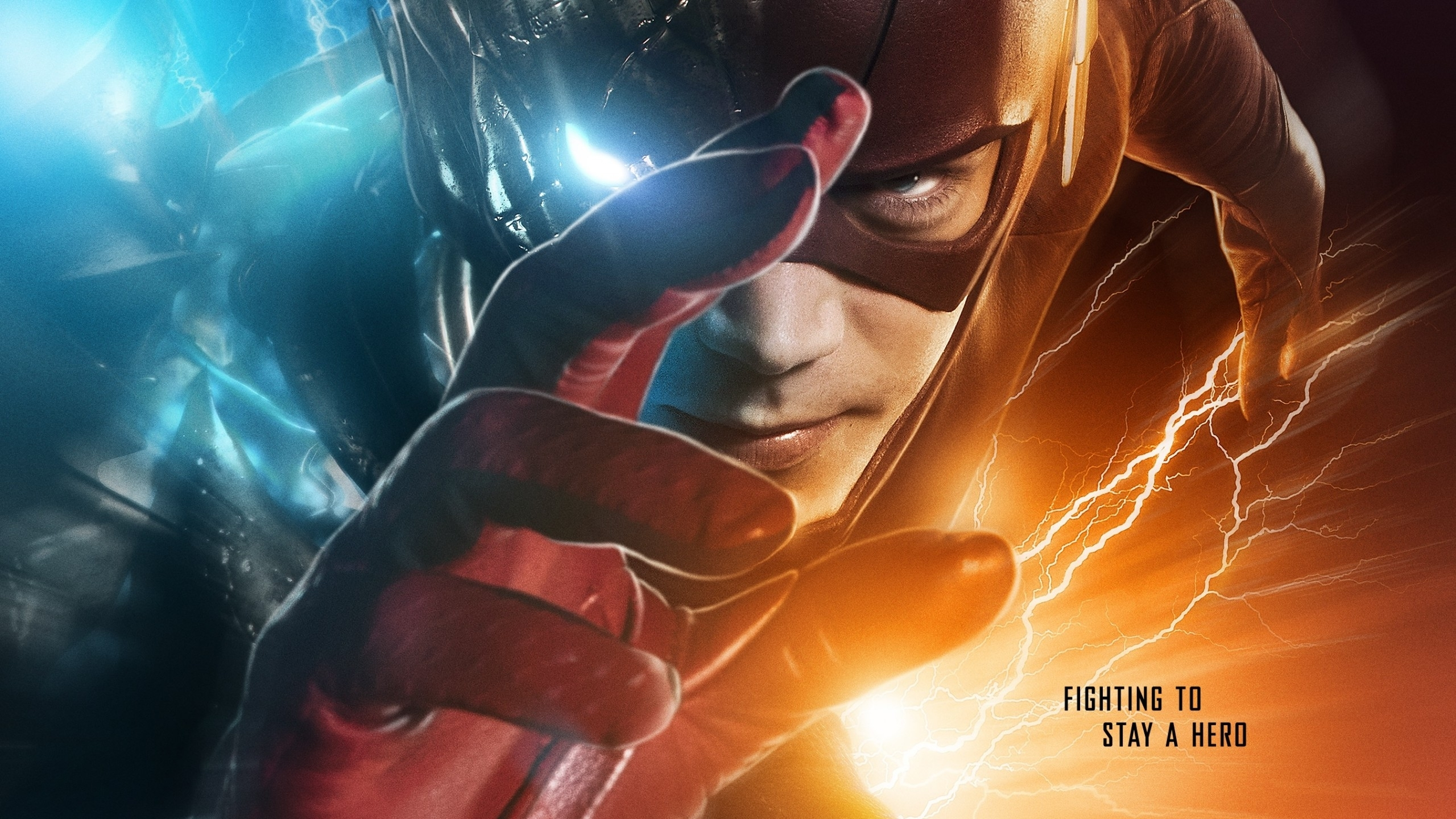wallpaper the flash, grant gustin, season 3, hd, tv series, #7576