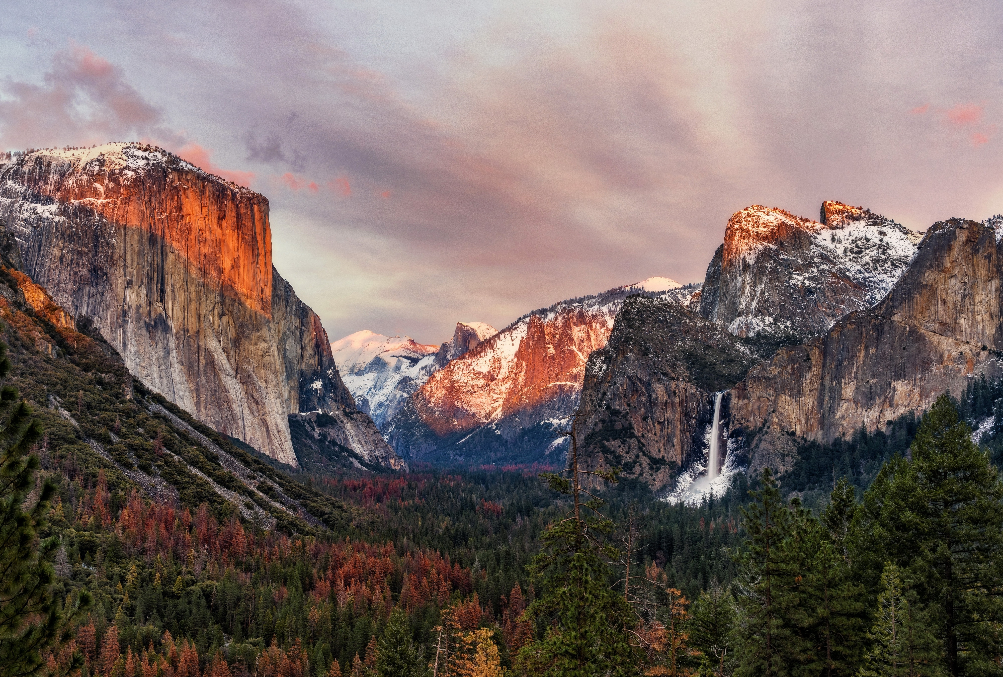 wallpaper yosemite national park, el capitan, yosemite valley, 4k