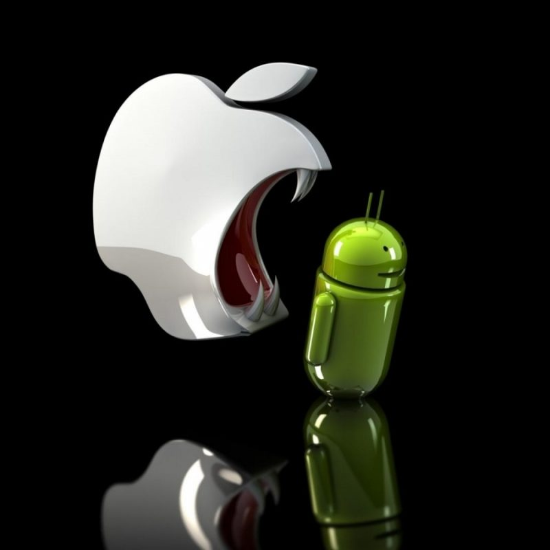 10 Best Android Vs Apple Wallpaper FULL HD 1920×1080 For PC Desktop 2018 free download wallpapers hd apple vs android black background funniest jokes 800x800
