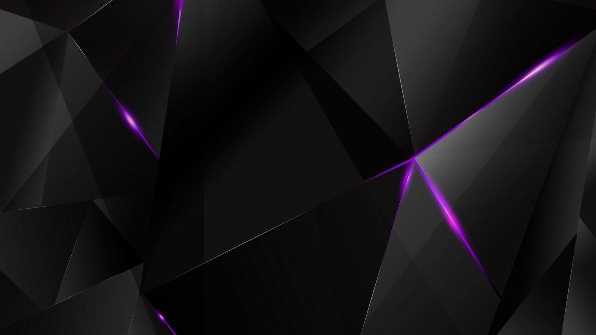 wallpapers - purple abstract polygons (black bg)kaminohunter on