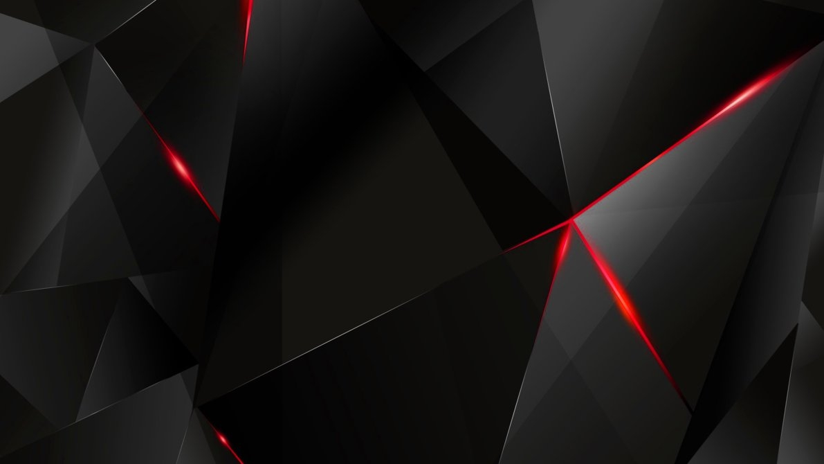 wallpapers - red abstract polygons (black bg) (re)kaminohunter