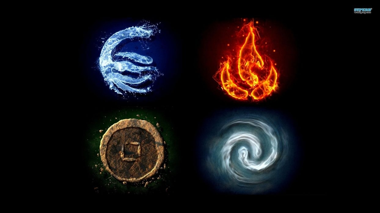water fire earth avatar: the last airbender air symbols the elements