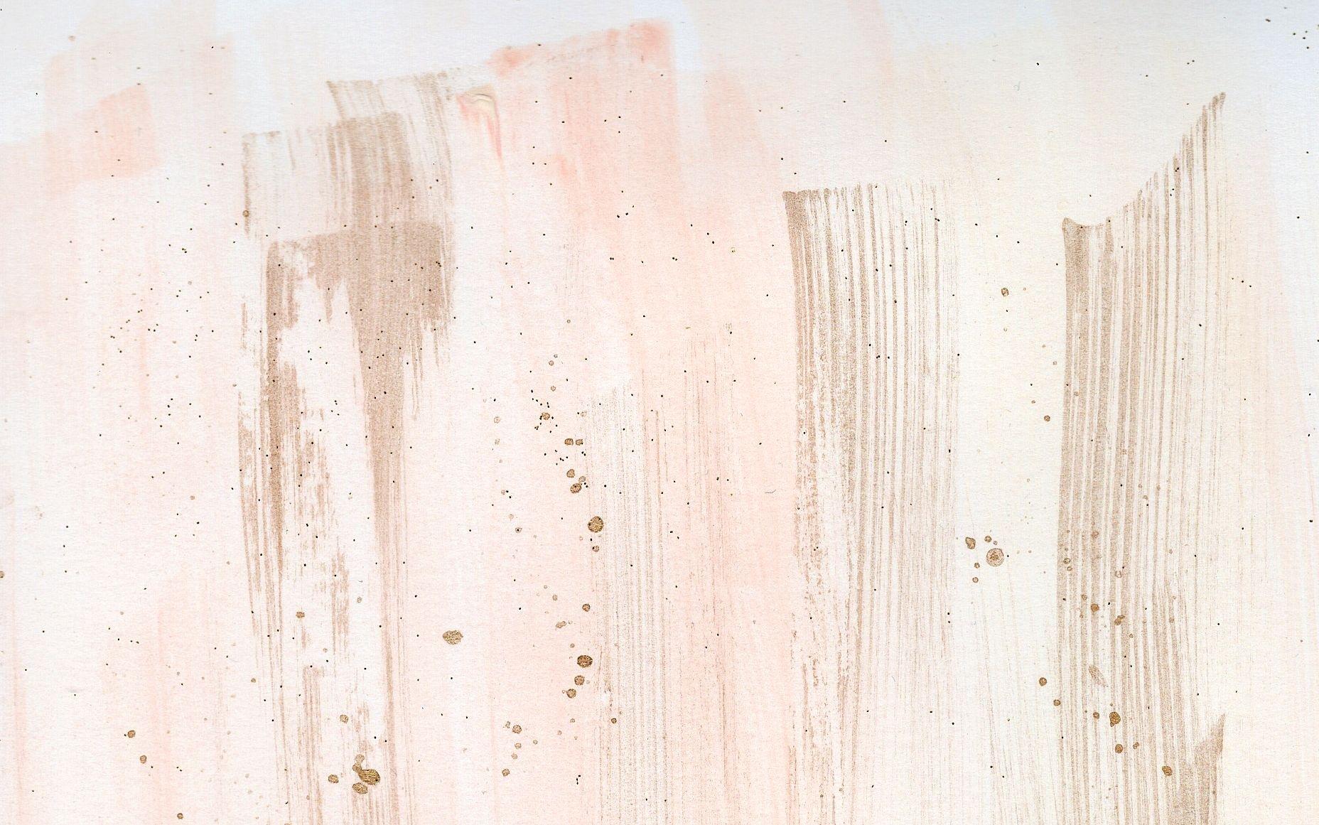 watercolour coral blush gold brushstroke desktop wallpaper