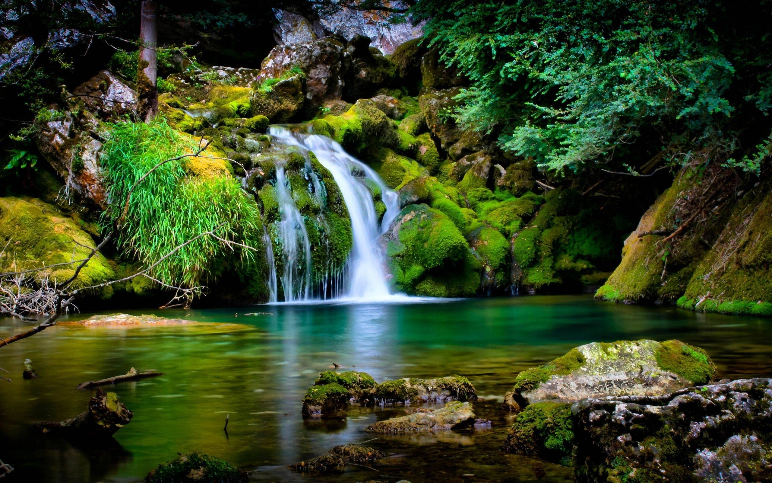 waterfall in hd 1080p on wallpaper nature of mobile phones