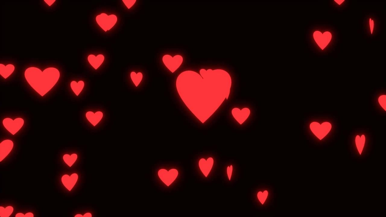 wedding loop - glowing spinning hearts on black background - youtube