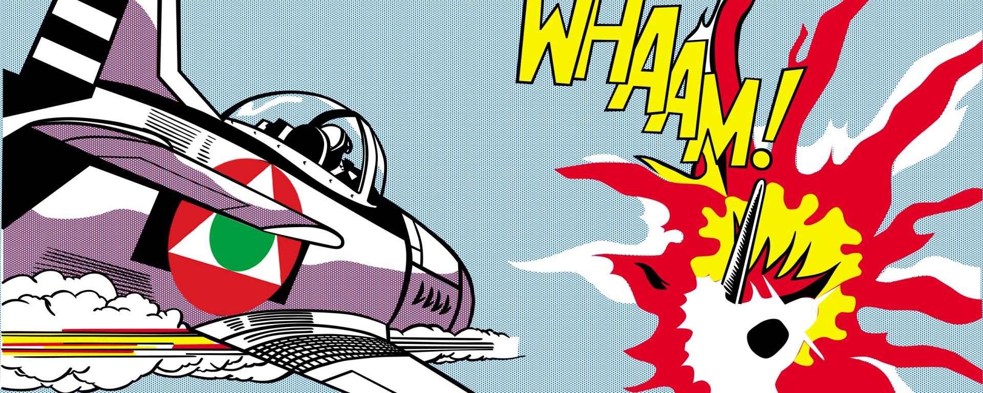 whaam! (1963)pop artist roy lichtenstein wallpaper and