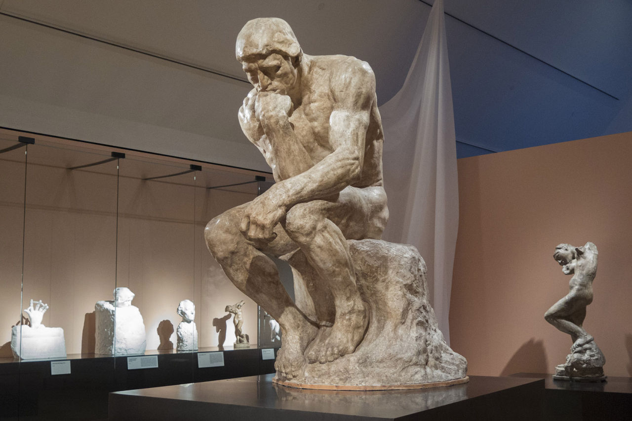 why we still think about rodin's 'the thinker,' now sitting