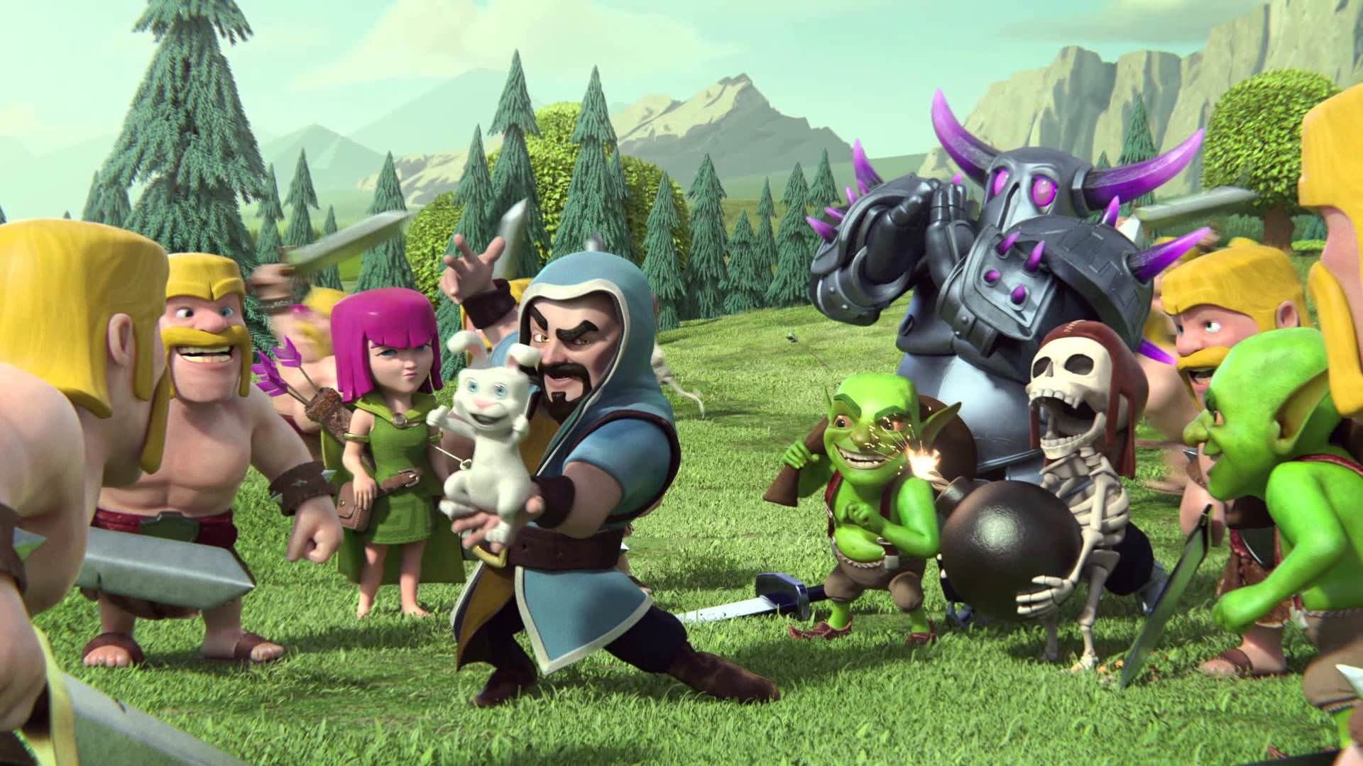 widescreen clash of clans hd full pictures on wallpaper cartoon coc
