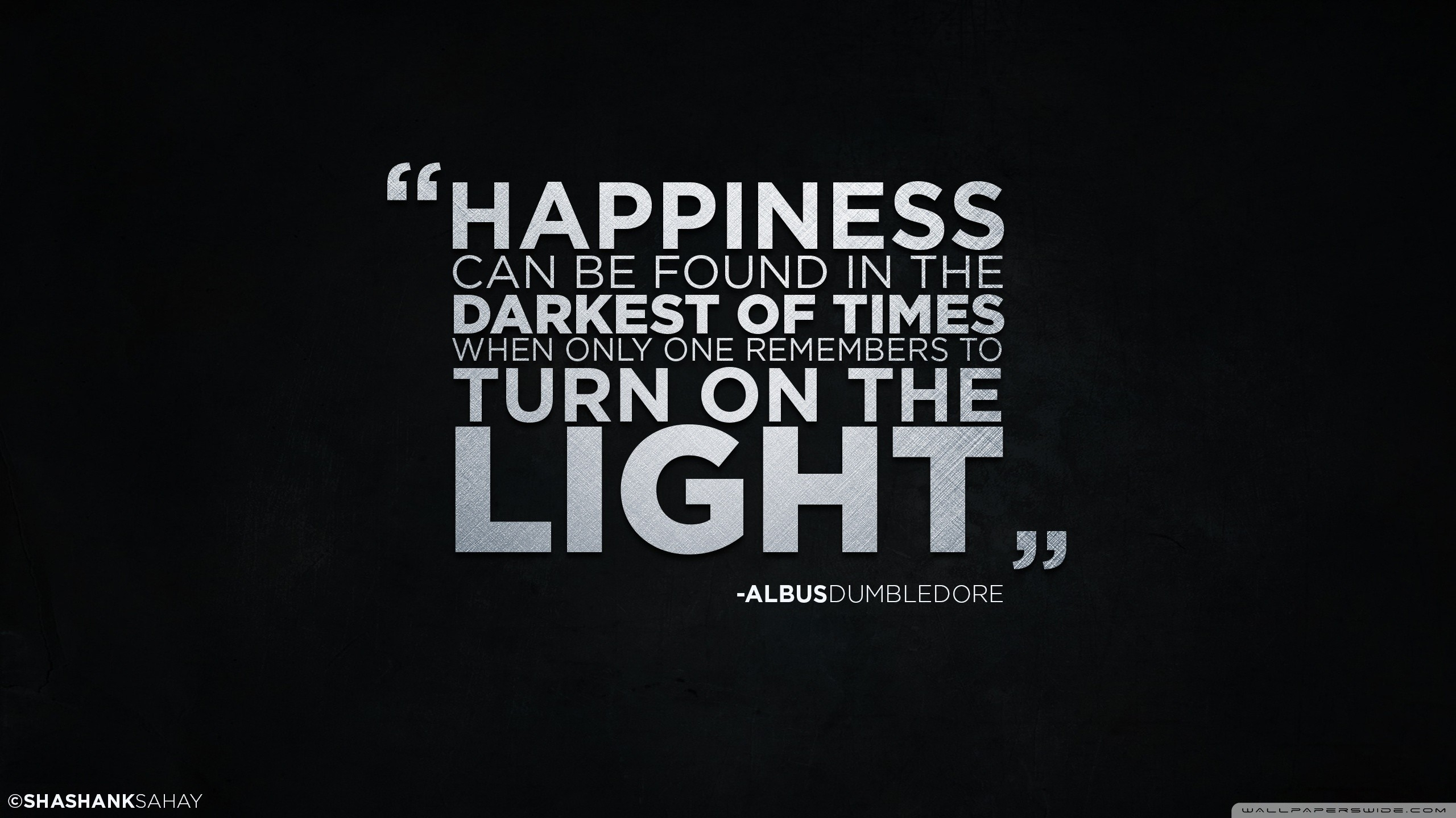 widescreen harry potter albus dumbledore quote simple background