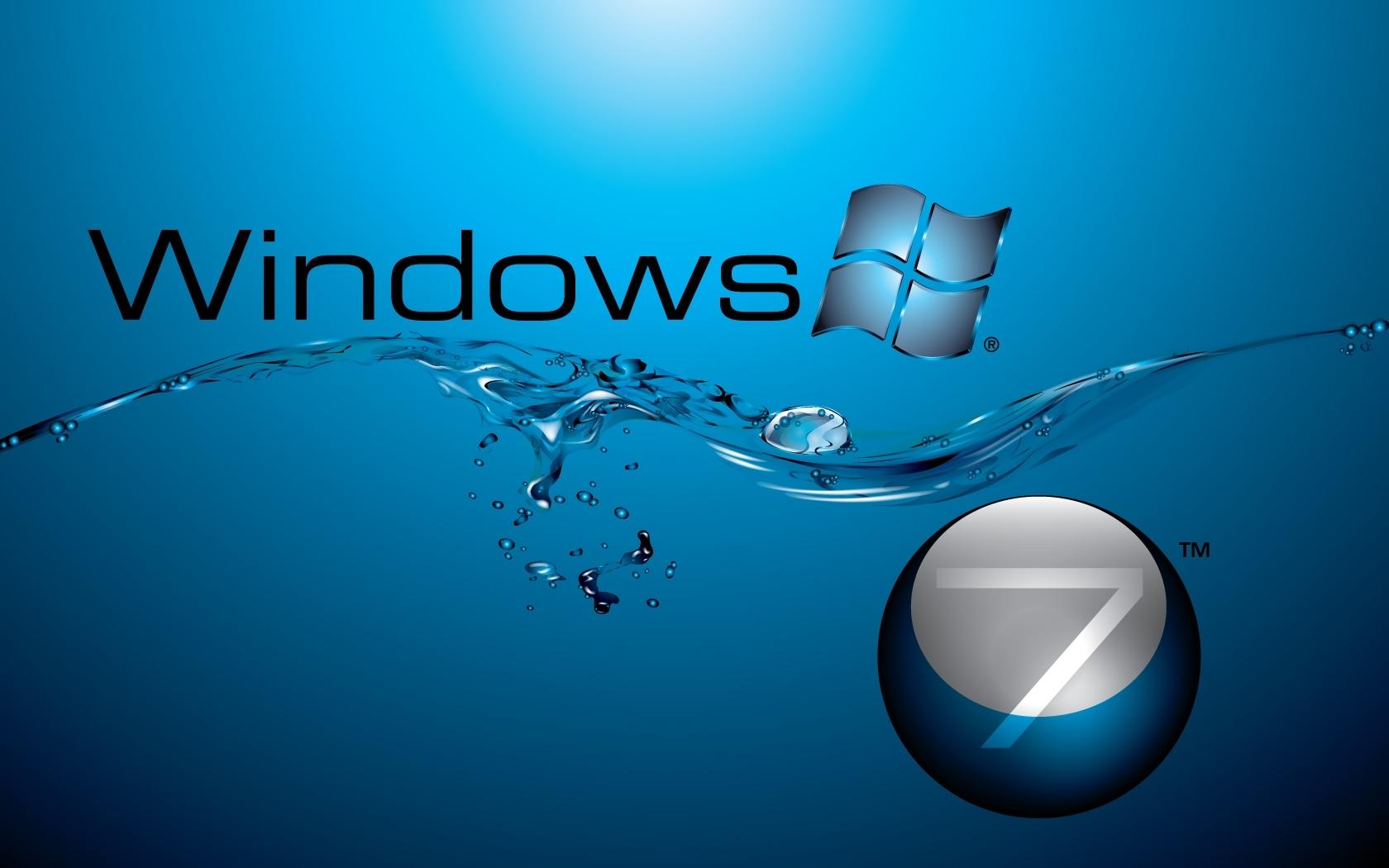 windows 7 in water flow wallpapers | hd wallpapers | id #7172