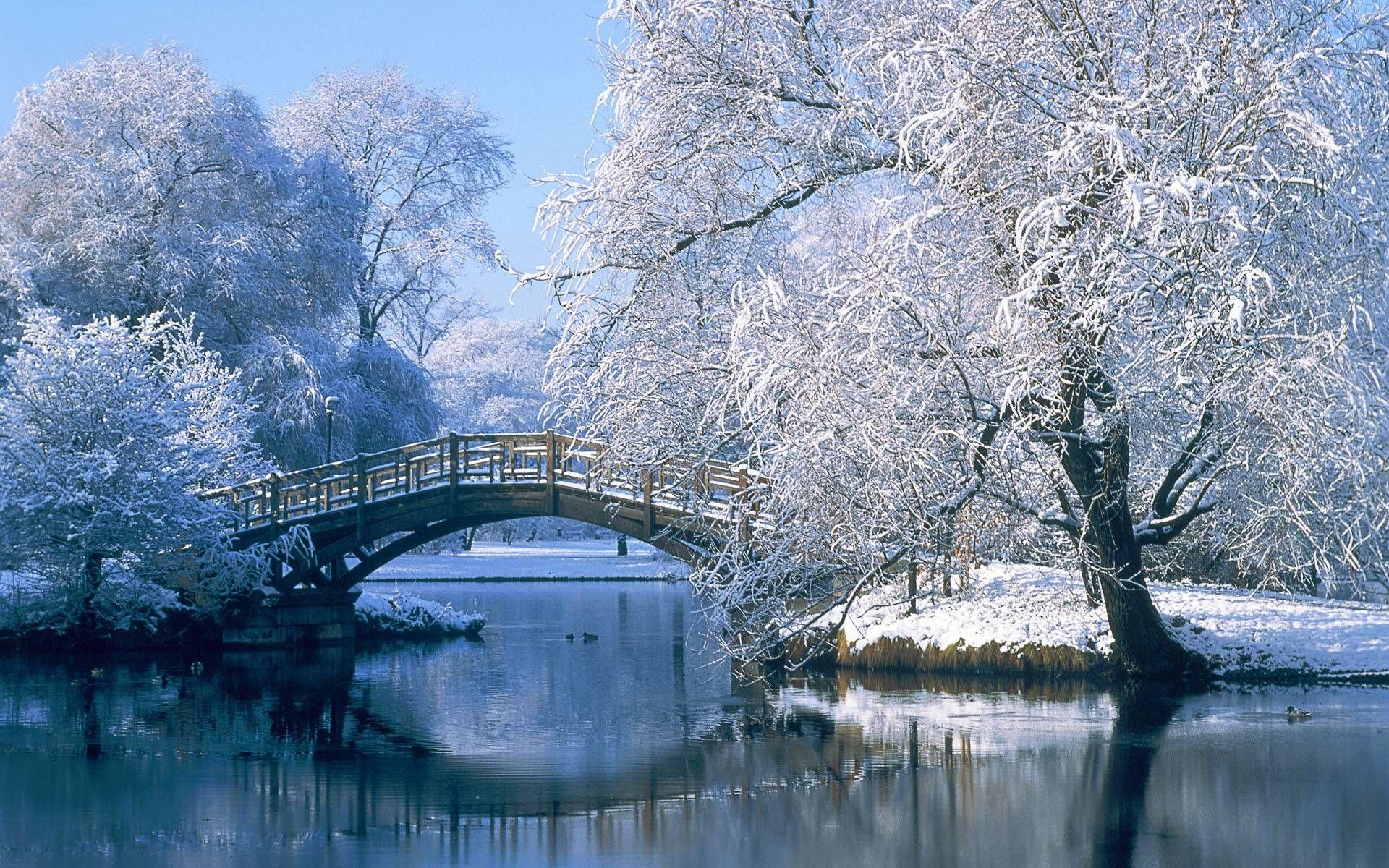 winter scenes for desktop wallpapers - hd wallpapers inn | bridges