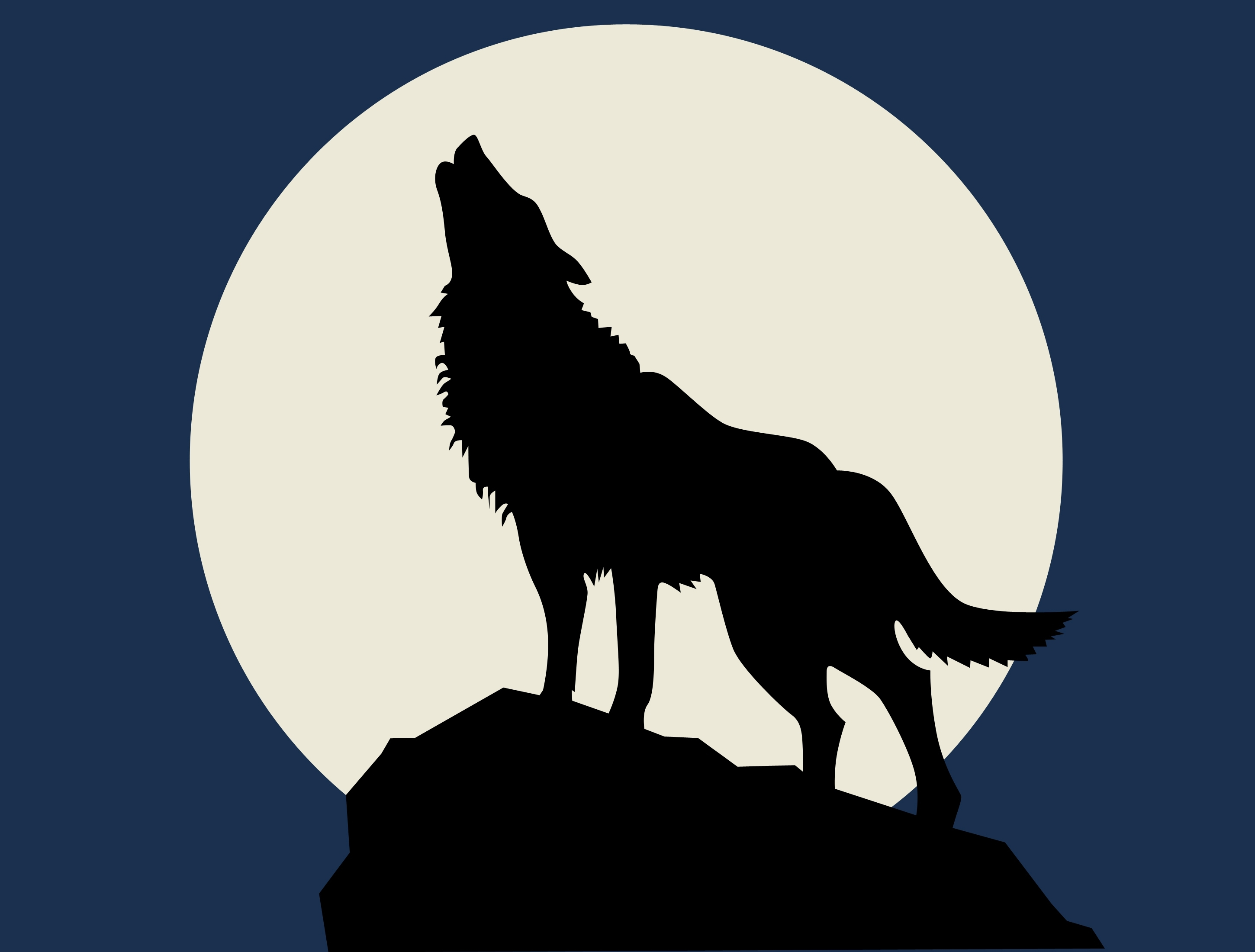 wolf howling at the full moon | one writer's way