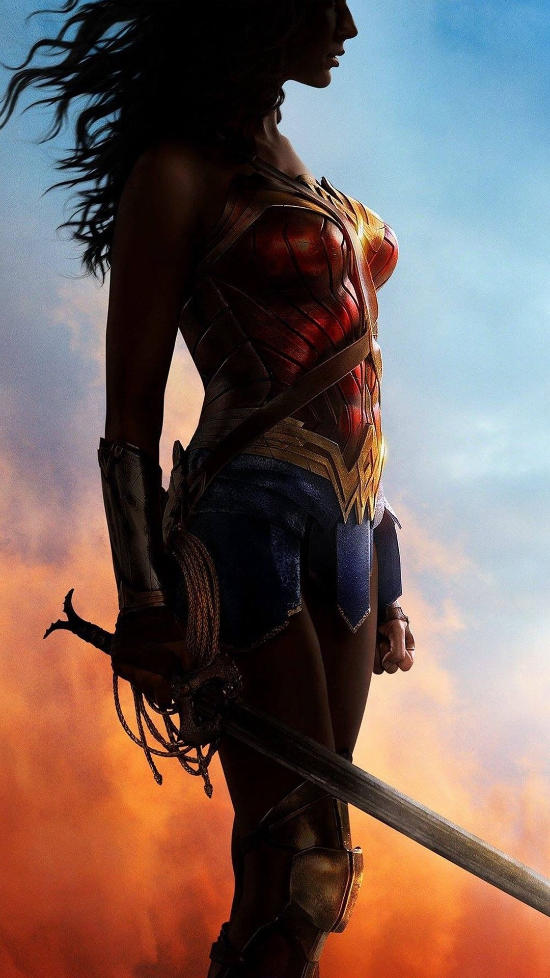 wonder woman art poster hero art illustration iphone 6 wallpaper