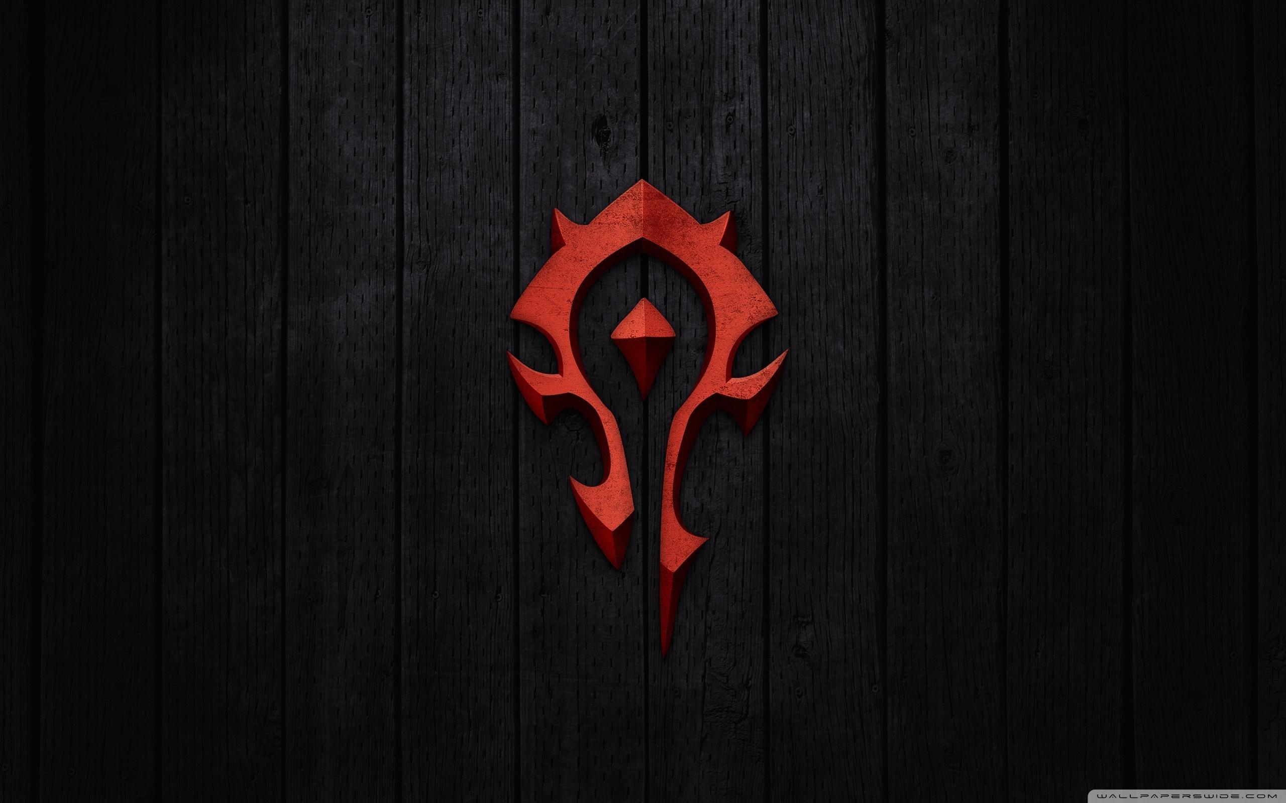 world of warcraft - horde sign ❤ 4k hd desktop wallpaper for 4k