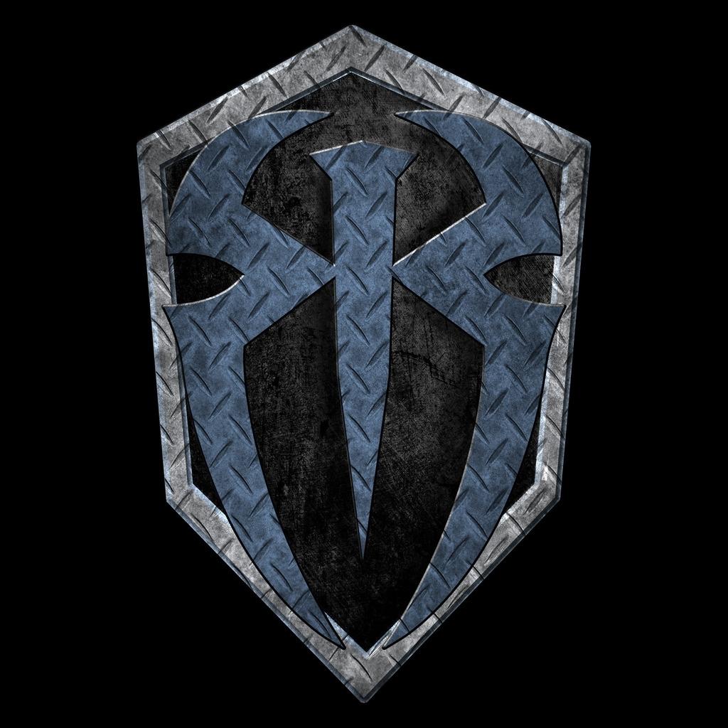 wwe roman reigns logo metal official men's & women's t-shirt (black
