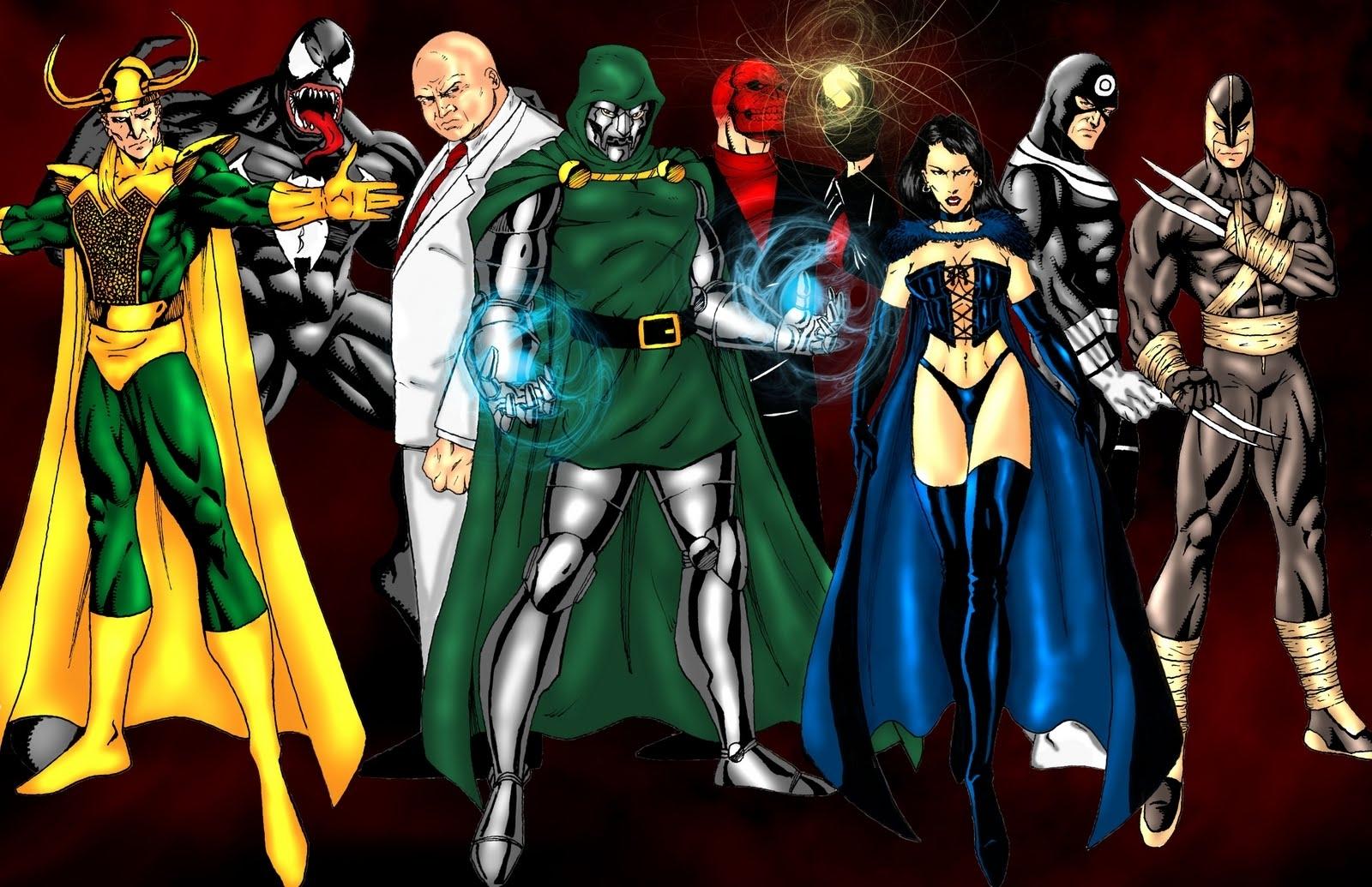 x-men characters villains | wilson art: marvel villains | comic book