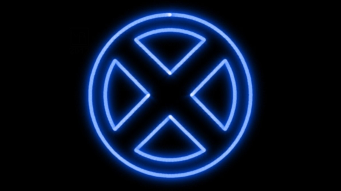 x-men neon symbol wpmorganrlewis on deviantart