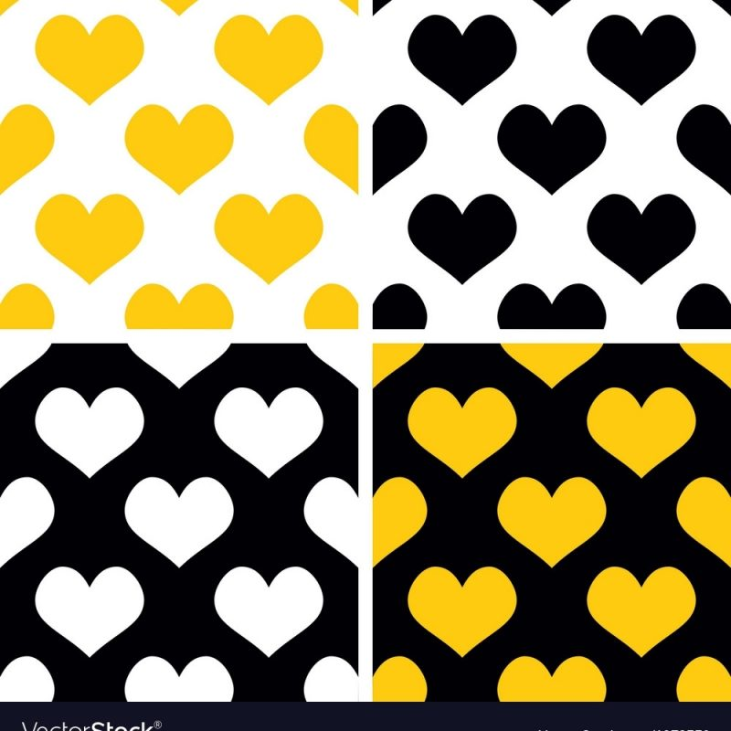 10 Best Black And White Hearts Background FULL HD 1080p For PC Background 2020 free download yellow black and white hearts background set vector image 800x800